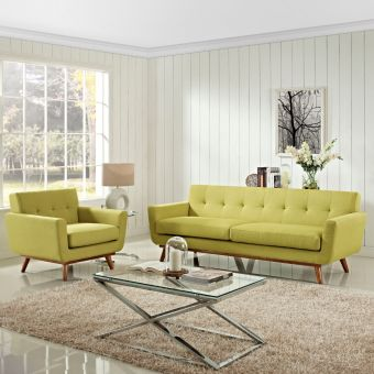 Engage Armchair and Sofa Set of 2 (Wheatgrass)