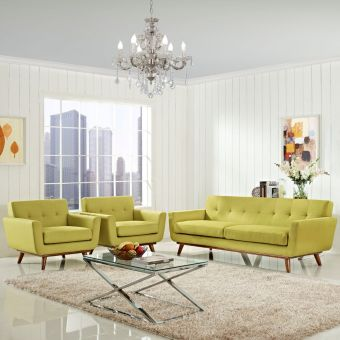 Engage Armchairs and Sofa Set of 3 (Wheatgrass)