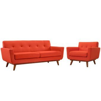 Engage Armchair and Loveseat Set of 2 (Atomic Red)