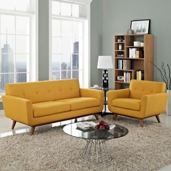 Engage Armchair and Loveseat Set of 2 (Citrus)
