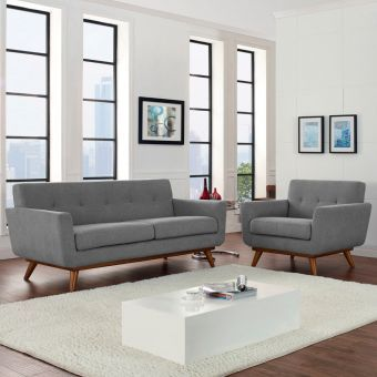 Engage Armchair and Loveseat Set of 2 (Expectation Gray)