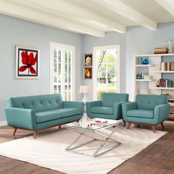 Engage Armchairs and Loveseat Set of 3 (Laguna)