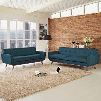 Engage Loveseat and Sofa Set of 2 (Azure)