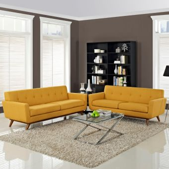 Engage Loveseat and Sofa Set of 2 (Citrus)