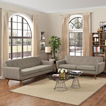 Engage Loveseat and Sofa Set of 2 (Granite)