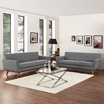 Engage Loveseat and Sofa Set of 2 (Expectation Gray)