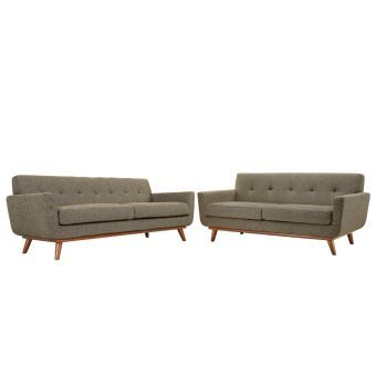 Engage Loveseat and Sofa Set of 2 (Oatmeal)