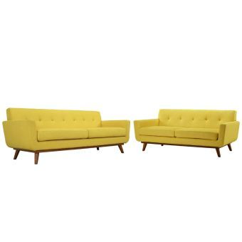 Engage Loveseat and Sofa Set of 2 (Sunny)