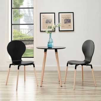 Path Dining Chair Set of 2 (Black)