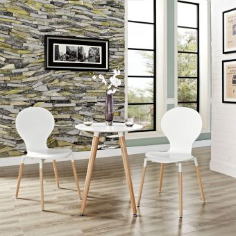 Path Dining Chair Set of 2 (White)