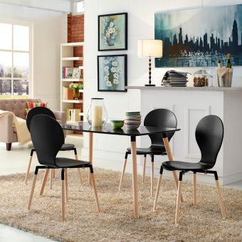 Path Dining Chair Set of 4 (Black)