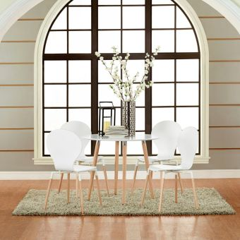 Path Dining Chair Set of 4 (White)
