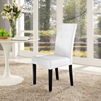 Confer Dining Vinyl Side Chair (White)