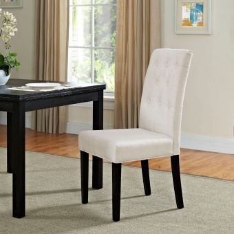 Confer Dining Fabric Side Chair (Beige)