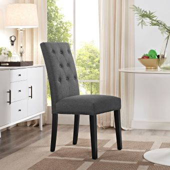 Confer Dining Fabric Side Chair (Gray)