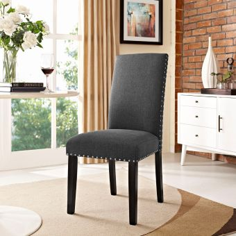 Parcel Dining Fabric Side Chair (Gray)