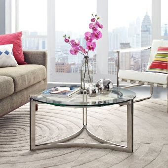 Signet Stainless Steel Coffee Table (Silver)