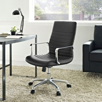 Finesse Mid Back Office Chair (Black)