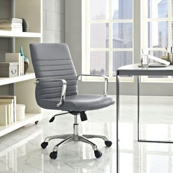 Finesse Mid Back Office Chair (Gray)