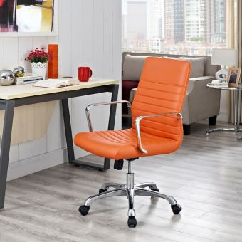 Finesse Mid Back Office Chair (Orange)