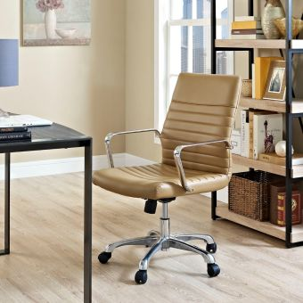 Finesse Mid Back Office Chair (Tan)