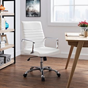 Finesse Mid Back Office Chair (White)