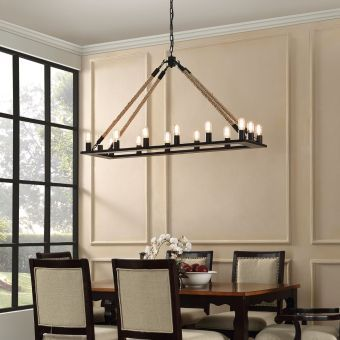 Bridge Chandelier (Black)