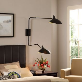 View Double Fixture Wall Lamp (Black)