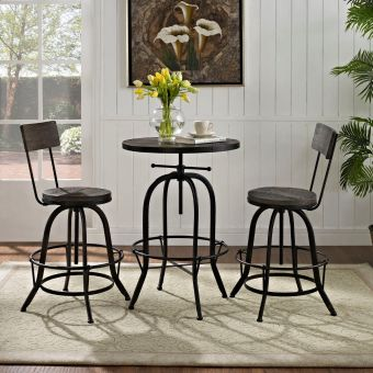 Procure Bar Stool Set of 2 (Black)