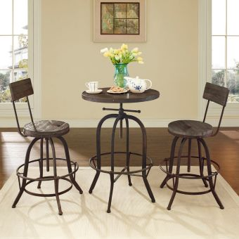 Procure Bar Stool Set of 2 (Brown)
