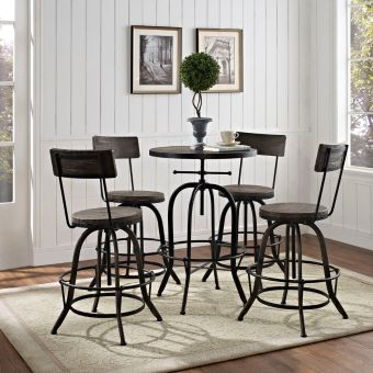 Procure Bar Stool Set of 4 (Black)