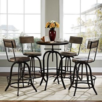 Procure Bar Stool Set of 4 (Brown)