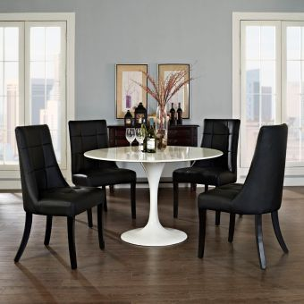 Noblesse Vinyl Dining Chair Set of 4 (Black)