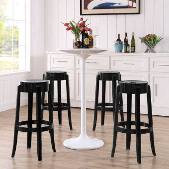 Casper Bar Stool Set of 4 (Black)