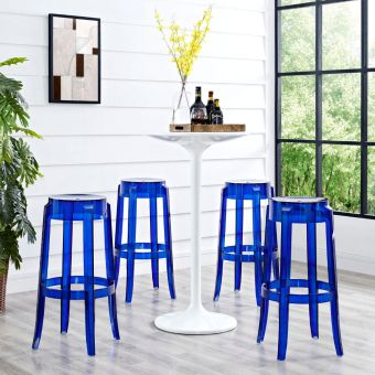 Casper Bar Stool Set of 4 (Blue)