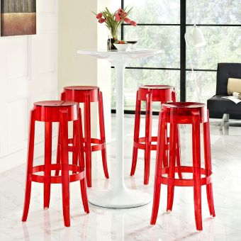 Casper Bar Stool Set of 4 (Red)