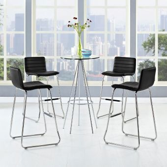 Dive Bar Stool Set of 4 (Black)