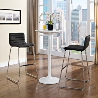 Dive Bar Stool Set of 2 (Black)