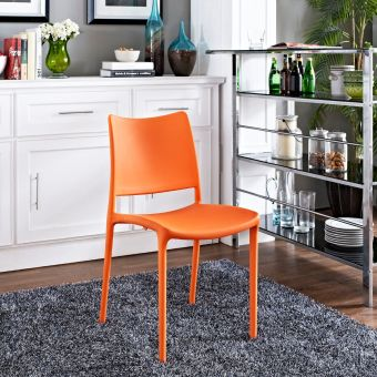 Hipster Dining Side Chair (Orange)