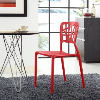 Astro Dining Side Chair (Red)