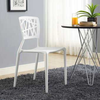 Astro Dining Side Chair (White)