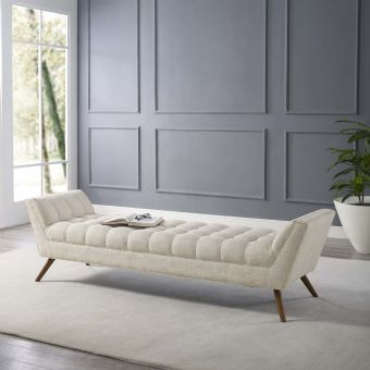 Response Upholstered Fabric Bench (Beige)