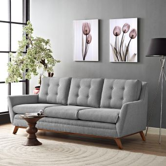 Beguile Upholstered Fabric Sofa (Expectation Gray)