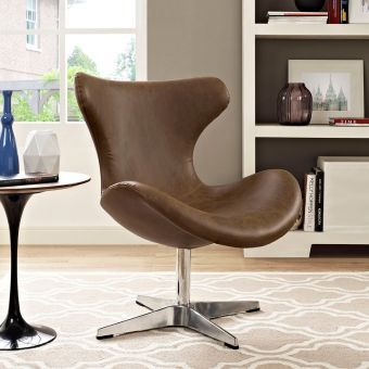 Helm Lounge Chair (Brown)