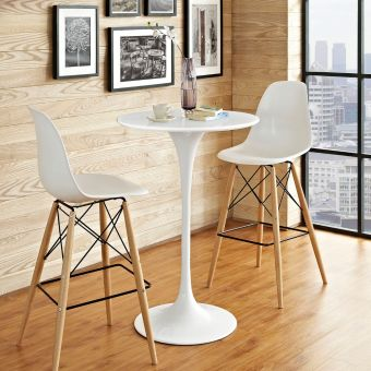 "Lippa 28"" Wood Bar Table (White)"