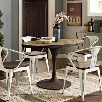 """Drive 47"""" Oval Wood Top Dining Table (Brown)"""