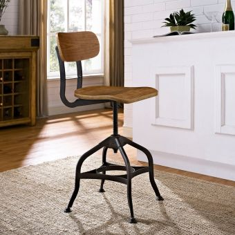 Mark Wood Dining Stool (Brown)