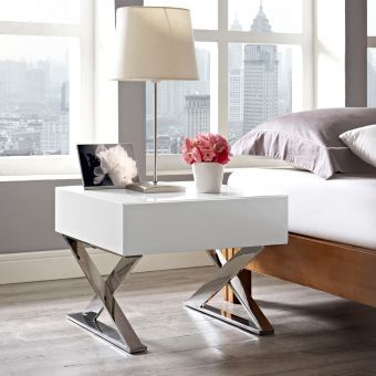 Sector Nightstand (White)