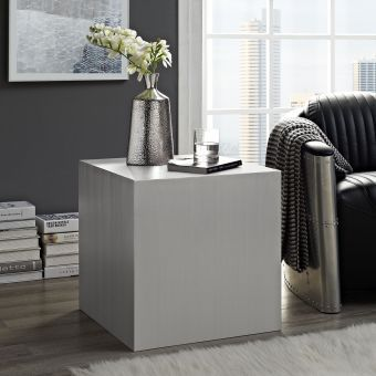 Cast Stainless Steel Side Table (Silver)