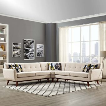 Engage L-Shaped Sectional Sofa (Beige)
